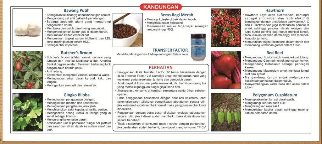 Keterangan 4Life Transfer Factor Cardio (CV)